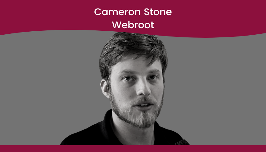 Cameron Stone – Webroot – Security Title Slide