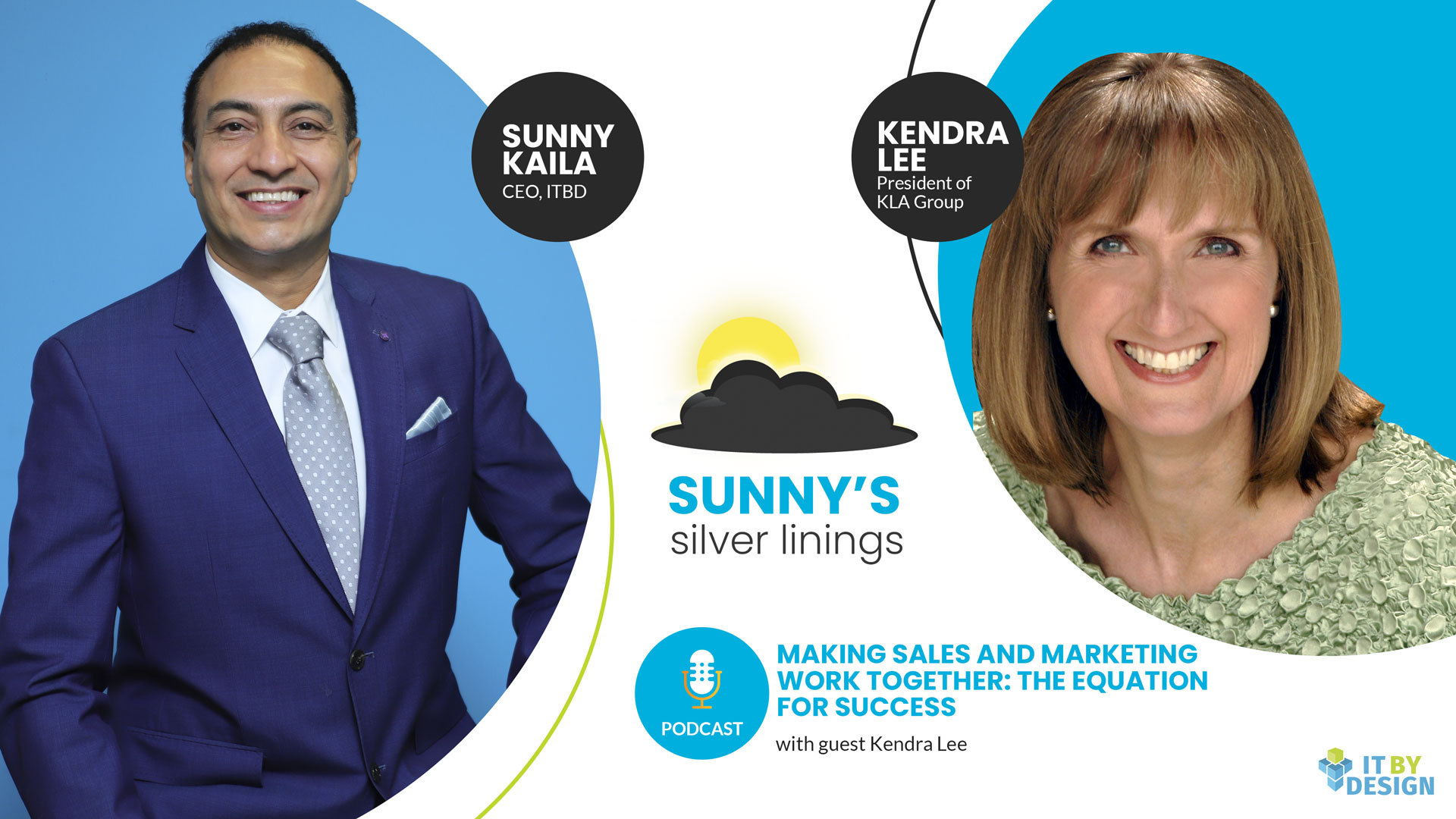 Making sales and marketing work together - Podcast title slide